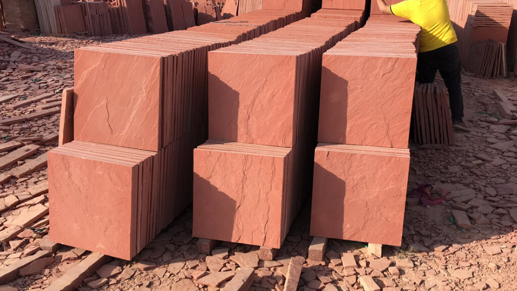 Agra Red Sandstone Tiles Flooring Stone Tiles2018929174857