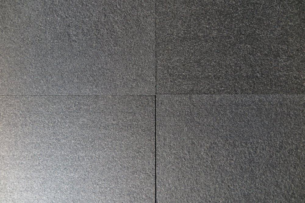 Flamed Finish on Gray Granite