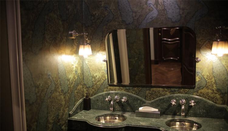 green marble bathroom sink